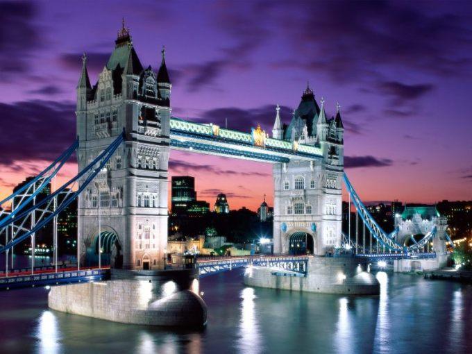London Evening Tower Bridge England e