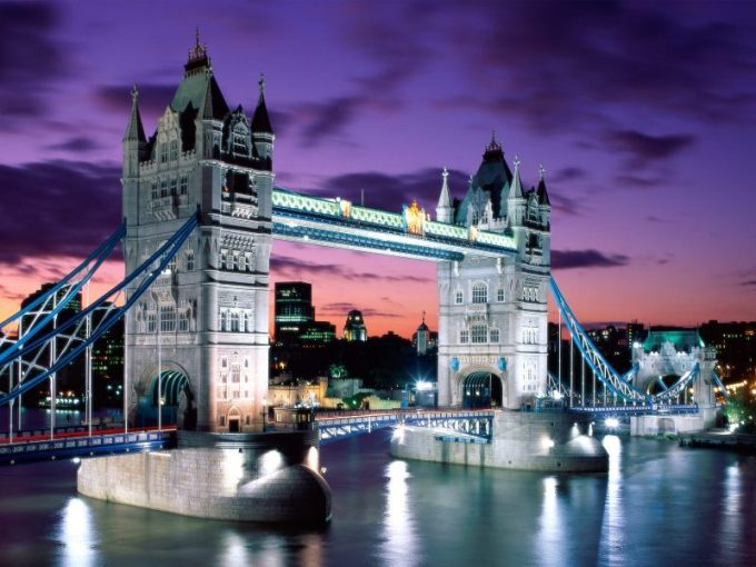 London Evening Tower Bridge England e