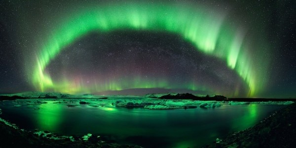 water landscapes nature winter snow stars aurora borealis aurora iceland skyscapes wall www