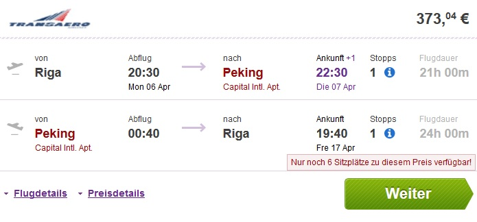 riga to china