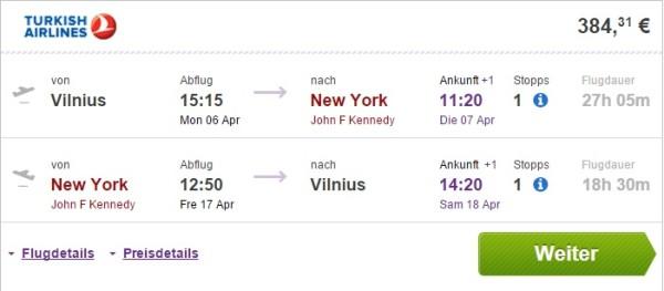 vilnius to new york 1