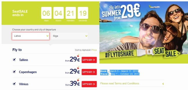 airbaltic summer sales