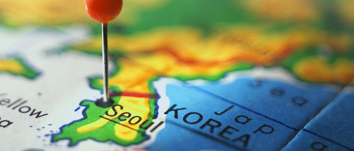 south korea pinpoint map