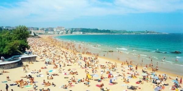 Playa Sardinero   Santander   Spain e