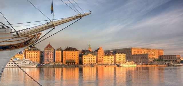Early morning in Stockholm Old Town e