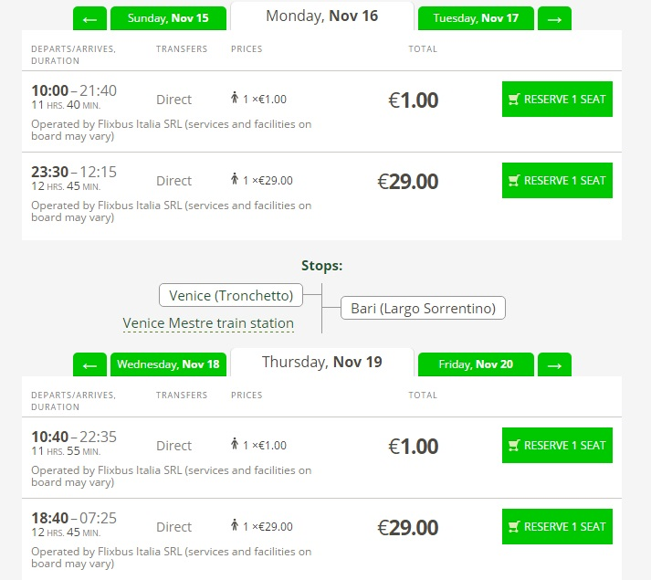 Flixbus Buses In Italy Just 1 Travelfree Info