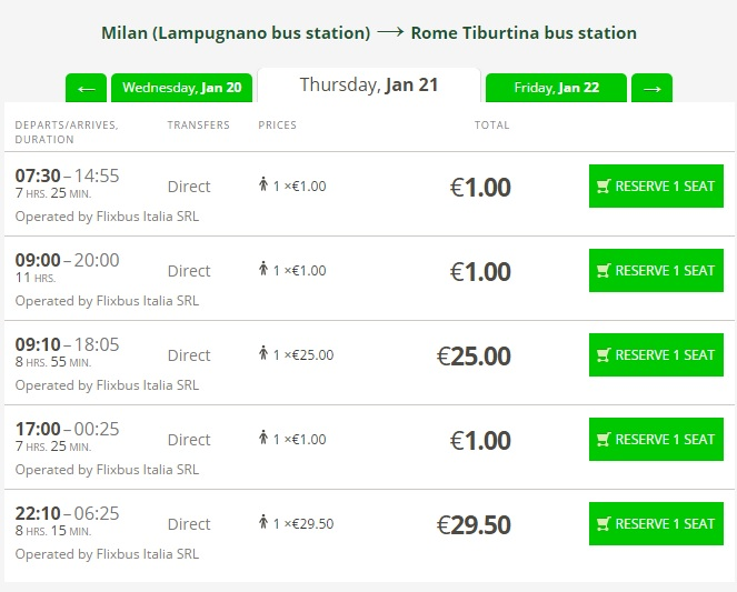 Flixbus Travel By Bus In Italy Just For 1 Travelfree Info