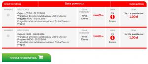 warsaw prague 0,25 eur