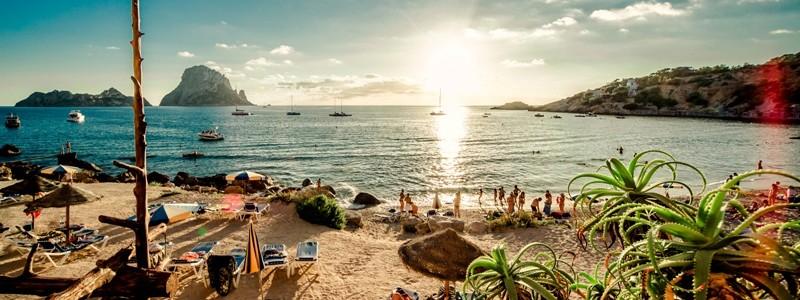 View of Cala d'Hort Beach, Ibiza