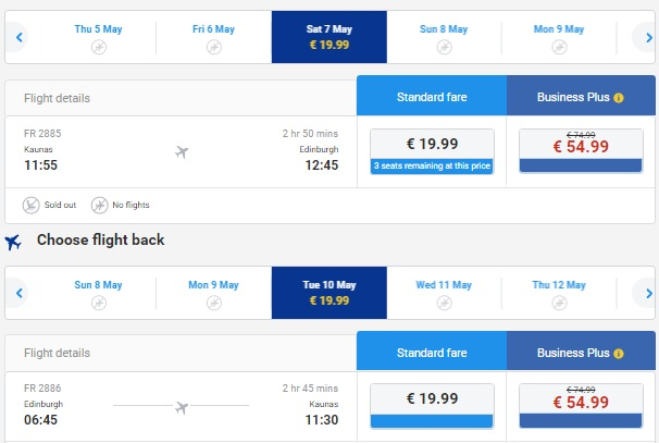Flights from kaunas to edinburgh scotland for 39 both for Cost of plane ticket to germany