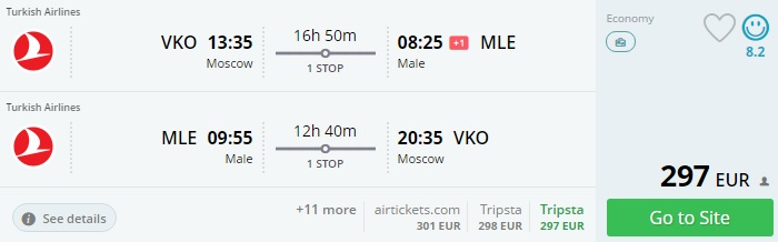 moscow to maldives