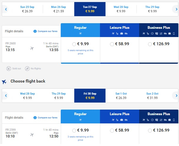 Flights From Riga To Berlin For 19 Both Ways Travelfree