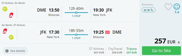 flights from moscow to miami