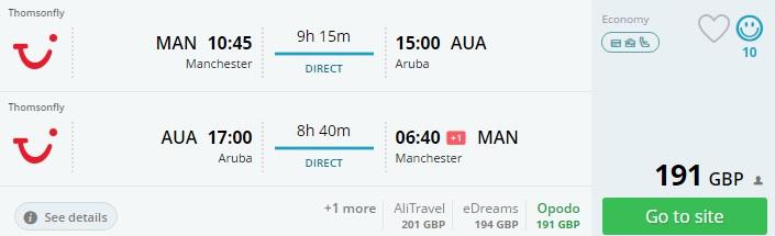 uk to aruba flights