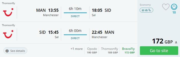 uk to cape verde direct flights
