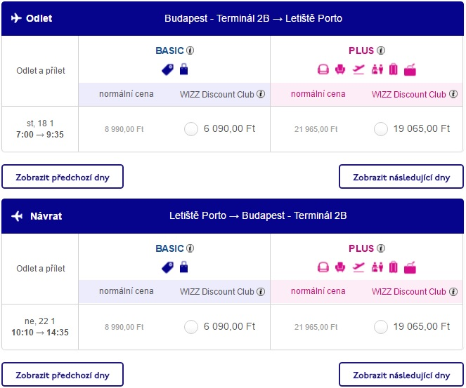 flights from budapest to porto