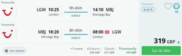 cheap flights from uk to jamaica