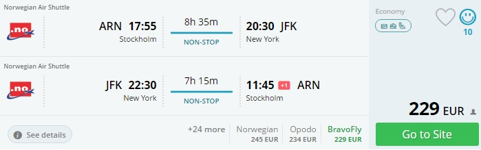 cheap flights to new york from scandinavia