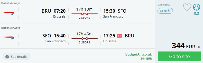 flights from brussels to usa