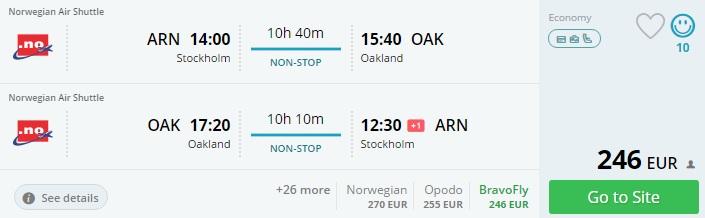 norwegian flights to san francisco
