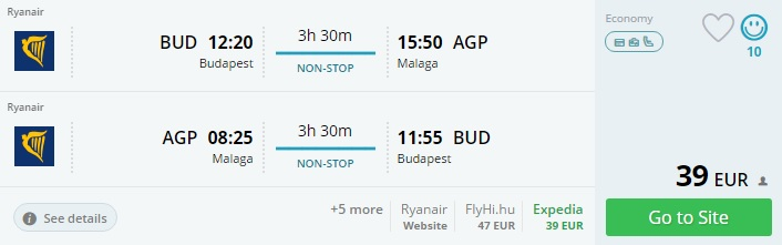 to malaga from budapest