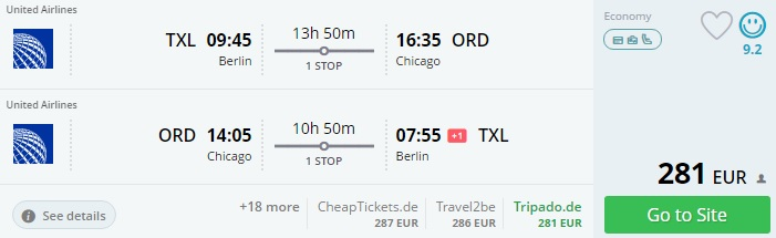 flights from berlin to chicago