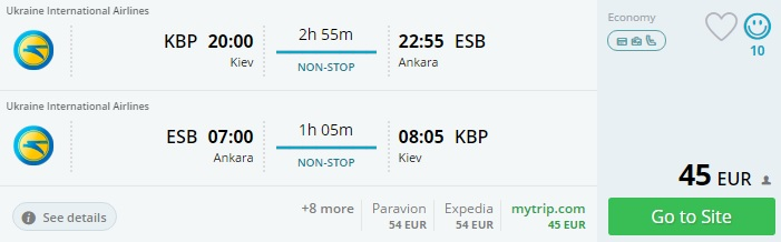 flights from ukraine to turkey