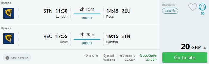flights from london to barcelona