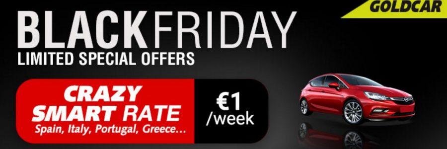 Black Friday Car Deals >> Crazy Goldcar Black Friday Car Rental Just For 1 Week