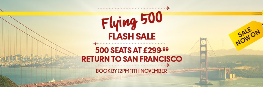 thomas cook flash sale to san francisco
