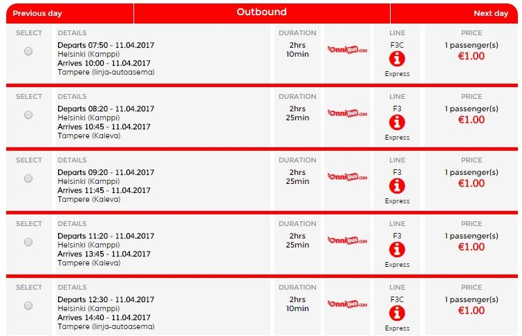 bus tickets in finland