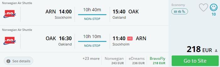 direct flights to san francisco
