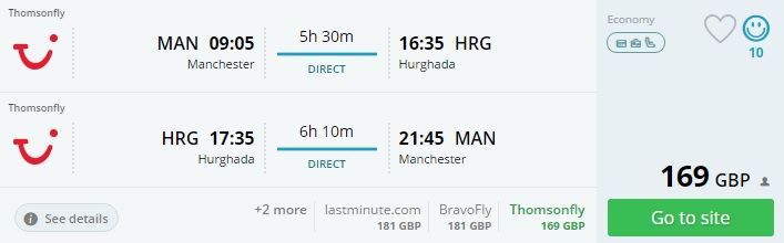 flights from uk to egypt