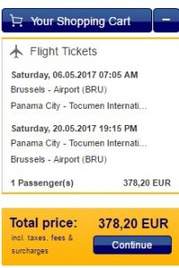 flights to panama from brussels