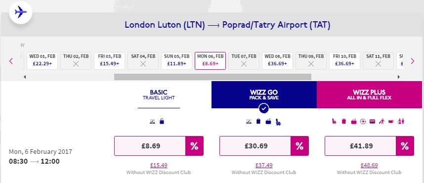 wizz air uk flights
