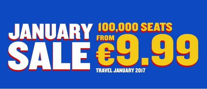 January sale by ryanair