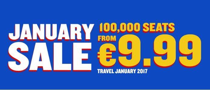 January sale by ryanair