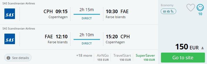 direct flights to faroe islands from copenhagen