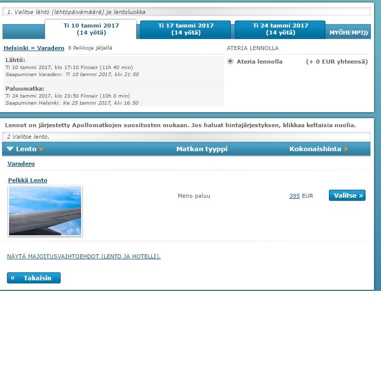 flights from helsinki to cuba