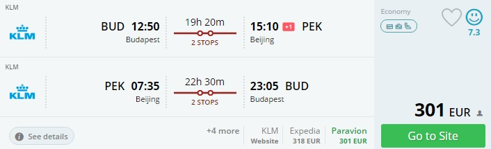 flights from hungary to china