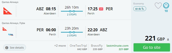 flights from the uk to australia