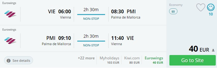 flights from vienna to palma mallorca