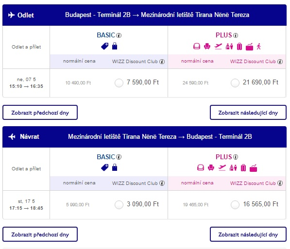flights to albania from budapest