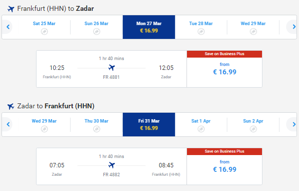 Flights from germany to croatia from 33 round trip for Cost of plane ticket to germany