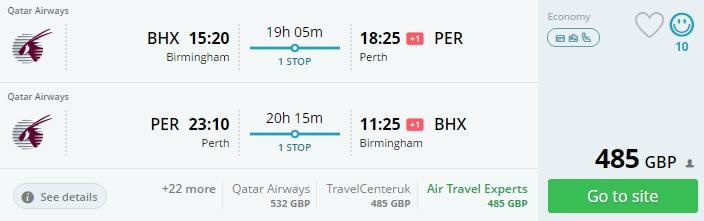 qatar airways flights to australia