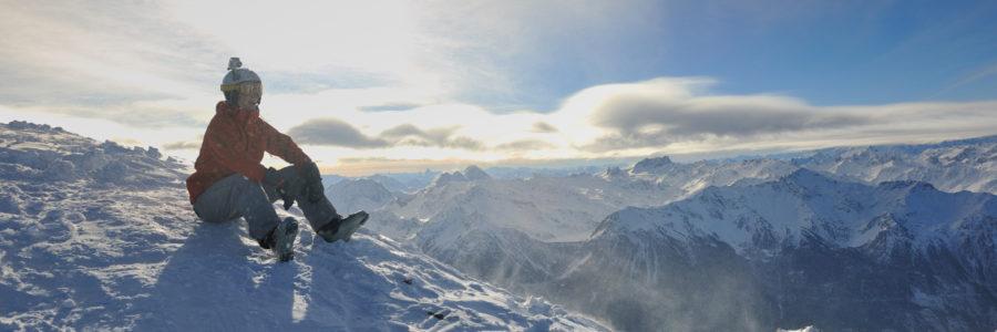 skiing on on now at winter season