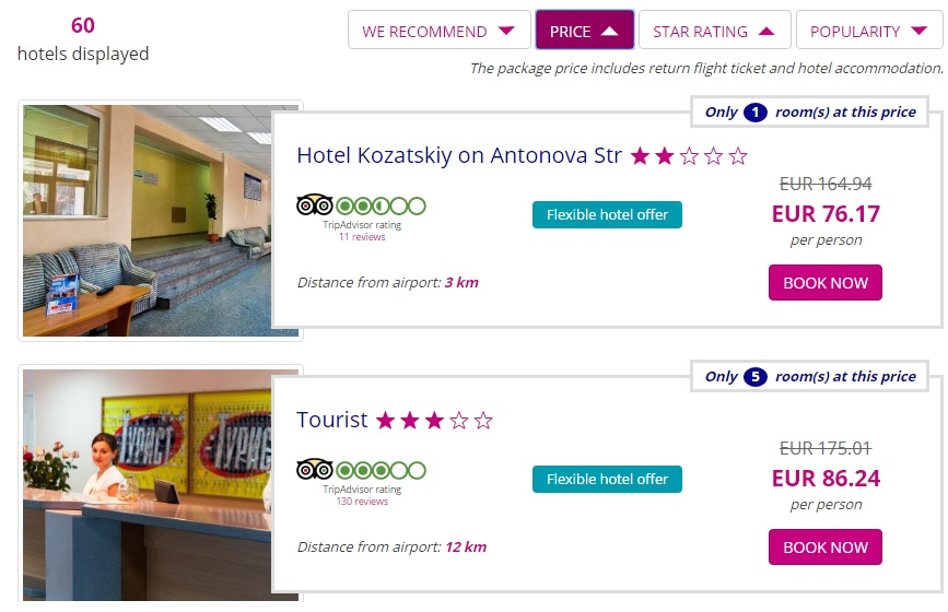 Wizztours Voucher 75 Off Flight Hotel Package