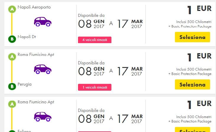 Wow Car Rental Europcar In Europe Just 1 1 Travelfree