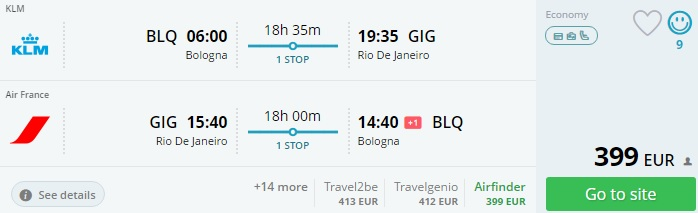 cheap flights from italy to brazil
