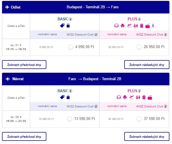 flights from budapest to faro